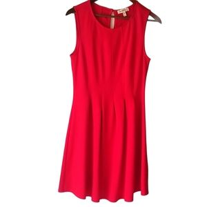 Monteau Red Fit and Flare Dress